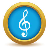 Gold music icon — Stock Vector