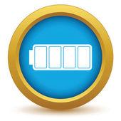 Gold battery icon — Vetor de Stock