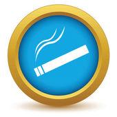 Gold cigarette icon — Stock Vector