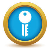 Gold key icon — Stockvektor