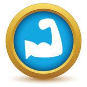 Gold brawn icon — Stock Vector