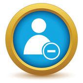 Gold remove user icon — Vecteur