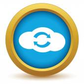 Gold reverse cloud icon — Stock Vector
