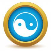 Gold Taoism icon — Stock Vector