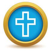 Gold Christentum Symbol — Stockvektor