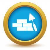 Gold building icon — Stockvector