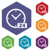 Best clock rhombus icons — Stockvector