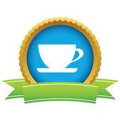 Gold cup logo — Stock Vector