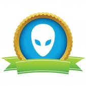 Gold extraterrestrial logo — Stock Vector