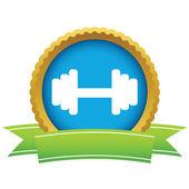 Gold weight logo — Stock Vector