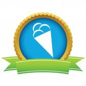 Gold ice cream logo — Stock Vector