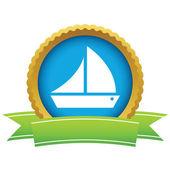 Logotipo do navio de ouro — Vetor de Stock