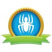 Gold spider logo — Stock Vector