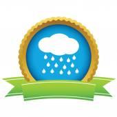 Gold rain logo — Stockvector