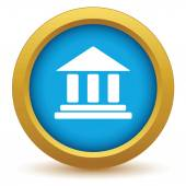 Icona d'oro banca — Vettoriale Stock
