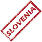 New Slovenia rubber stamp  — Stock Vector