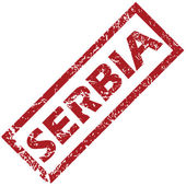 New Serbia rubber stamp — Stock Vector