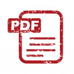 Red grunge pdf logo — Stock Vector #71346059