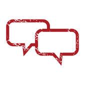 Red grunge conversation logo — Stok Vektör