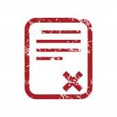 Czerwony ilustracja logo nie dokumentu — Wektor stockowy