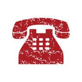 Red grunge Telephone logo — Stock vektor