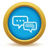 Chatting round icon — Stock Vector