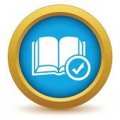 Selected book icon — Stock Vector