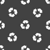 Recycling sign pattern — Wektor stockowy