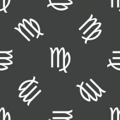 Virgo symbol pattern — Stockvector