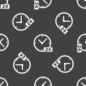 Clock 24 pattern — Stockvektor