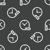 Clock 24 pattern — Stok Vektör