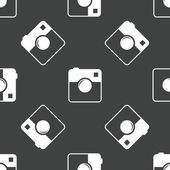 Square camera pattern — Stok Vektör
