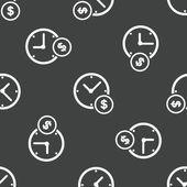 Wzór zegar i znak dolara — Wektor stockowy