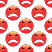 Angry emoticon pattern — Stockvector