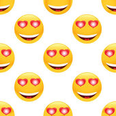 In love emoticon pattern — Cтоковый вектор