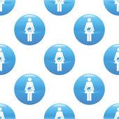 妊娠中の女性の記号のパターン — ストックベクタ