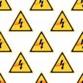 Högspänning tecken mönster — Stockvektor
