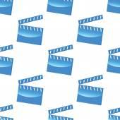Blauwe Filmklapper patroon — Stockvector
