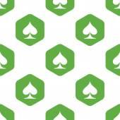 Spades symbol pattern — Stock Vector