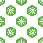 Snowflake pattern — Stock Vector
