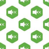 Muted loudspeaker pattern — Stock Vector