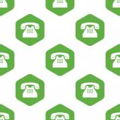 Old phone pattern — Stock Vector