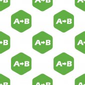 A to B pattern — Stock Vector