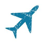 Plane grunge icon — Stock Vector