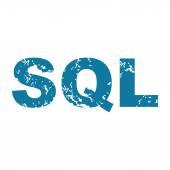 Grunge SQL icon — Vecteur
