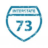 Grunge Interstate 73 icon — Stock Vector