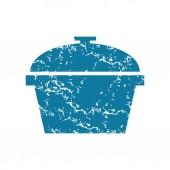 Grunge pot icon — Stock Vector