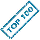 Rubber stamp TOP 100 — Stock Vector