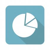 Square diagram icon — Stock Vector