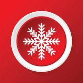 Snowflake icon on red — Stockvektor